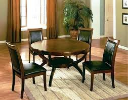 round glass table with 4 black chairs top dining set room tables for furniture alluring