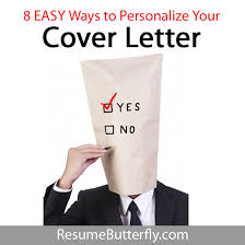 Copy And Paste Cover Letter Enchanting 48 EASY Ways To Personalize Your Cover Letter Resume Butterfly