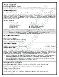 Resume sample preschool teacher