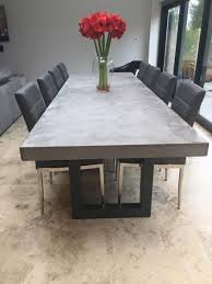 image result for concrete dining table