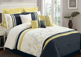 an introduction to gray and yellow bedding sets lostcoastshuttle lola grayyellow pc king comforter set easy