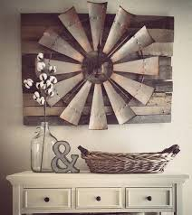 over sized windmill and barn wood wall clock