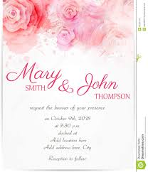 Wedding Invitations Templates Purple Wedding Invitation Template With Abstract Roses Stock Vector