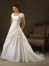 Simple A Line Wedding Dress With Sleeves Siji Ipunya