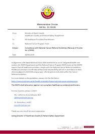 Emergency List Circular Hcflad 06 2018 Issuing A List Of Emergency