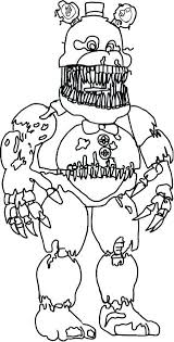Remarkable Five Nights At Freddys Coloring Pages Enchanting
