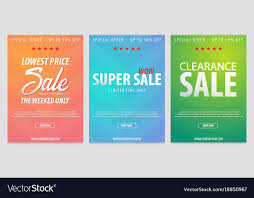 Advertising Flyers Samples Set Of Sale Posters Or Flyers Design Discount