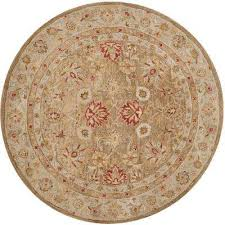 antiquity brown beige 10 ft x 10 ft round area rug