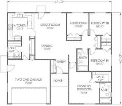 1900 square foot house plans elegant 1900 sqft 4 bedroom house plans lovely house plans 1700