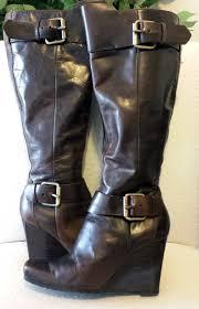 chocolate leather moto boot