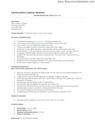 Construction Resume Example Sample Resumes For Project Managers And
