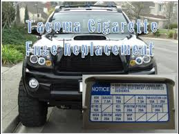 toyota tacoma cigarette fuse replacement year 2004 2009 youtube 2003 toyota tacoma interior fuse box diagram at 2004 Tacoma Fuse Box