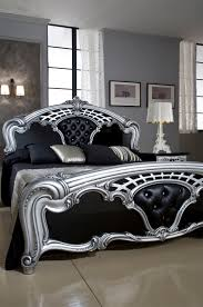 black and silver bedroom furniture. Sara Black W/silver, Mcs Classic Bedrooms, Italy, Collections And Silver Bedroom Furniture R