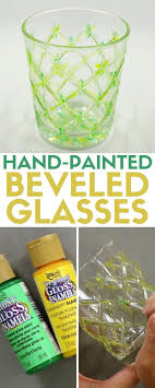 how to make hand painted beveled glasses easy diy craft tutorial idea glass