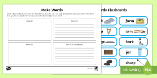 At the bottom of this page you will find web links to phonics websites which will help improve phonics through apps, games, reading and worksheets. Ar Sound Make Words Activity Mat Teacher Made
