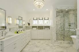 new york flush mount crystal chandelier with contemporary artificial orchids bathroom transitional and double vanity lighting