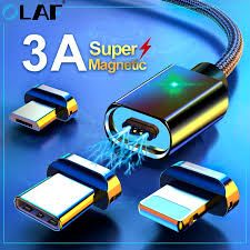 <b>OLAF 3A Magnetic</b> Micro USB Cable For iPhone 11 X Samsung ...