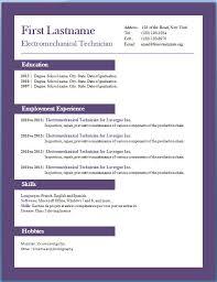 Resume Format Word Download Free Sonicajuegos Com