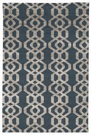 judy ross hand knotted custom wool trellis rug slate smoke silk