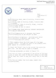 Standard Letter Standard Naval Letter Format Second Page Tripevent Co