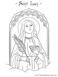 Small Picture St Lucy Catholic coloring page for children Feast day is December