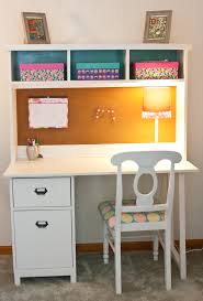 scholl kid study desk made of solid wood in white finished having storage and beadboard hanging