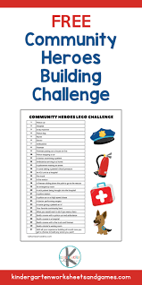 Free printable phonics workbooks, phonics games, worksheet templates, 100s of images for worksheets and more. Lego Community Helpers Printable Challenge