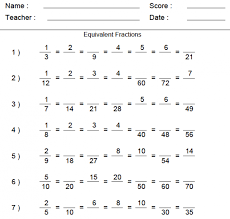 Finding The Least Common Denominator Fractions Worksheets ...