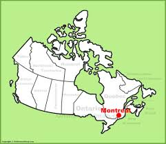 montreal location on the canada map