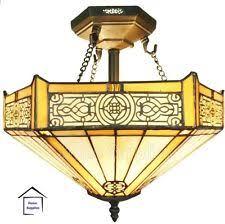 tiffany flush ceiling lights uk. period style tiffany glass semi flush ceiling light lights uk