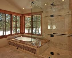 whirlpool bathtub and shower combination traditional bathroom master roman tub brushed nickel and shower