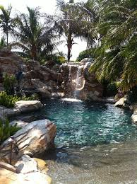 state pools outdoor living waterfall