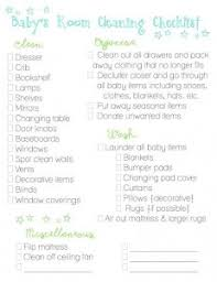baby room checklist. Baby Room Cleaning Checklist I