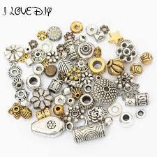 <b>1000pcs</b> 4mm Tibetan Gold <b>Silver Tone</b> Circle Flower Metal Spacer ...