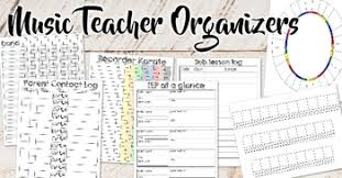 Teacher Organizer Planner Planmywholelife Music Teacher Planner Bundle Dated 5