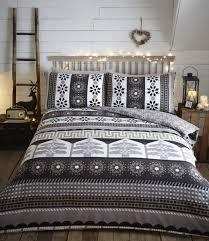 portfolio aspen flannelette cotton duvet cover set charcoal superking to enlarge