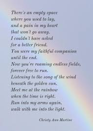 pet gift sympathy gifts loss of dog or cat pet print poem by christy ann martine
