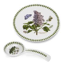 portmeirion botanic garden 9 inch spoon rest and trivet gift set royal worcester usa