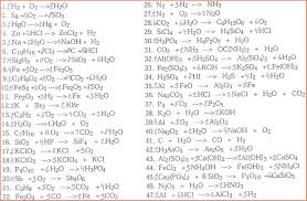 balancing chemical equations mr durdel s chemistry