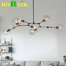 modern glass lighting. $175.88- Loft Industrial Chandeliers Globe Glass Lights Modern Minimalist Design Chandelier Hanging In Living Room Lighting