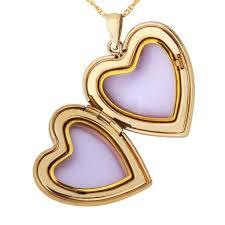 tri tone black hills gold filled heart locket w necklace