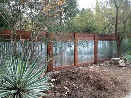 corrugated metal and wood fence sheet metal fence sheet metal fence landscape industrial with resistant planter corrugated metal and wood fence