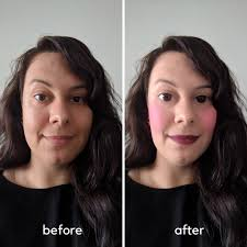 i d do it myself but i always end up looking like a clown no wonder my first attempt at using this makeup beauty app turned out like this