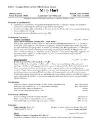 Resume Examples For Experienced Professionals 73 Images Resume