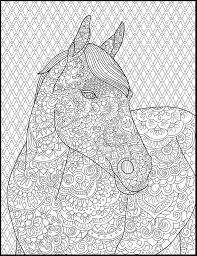 Horse Coloring Page For Adults Adult Coloring Pages Etsy