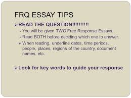 writing the ap us history response question frq ppt  2 frq essay