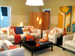Orange Living Room Chair Living Room Paint Colors That Look Good With Dark Brown