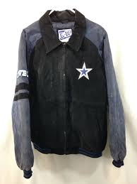 details about g iii carl banks dallas cowboys coat jacket men xl x large leather suede nfl