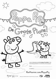 Kleurplaat Peppa Pig Kleurplaat Vor Kinderen 2019 With Regard To