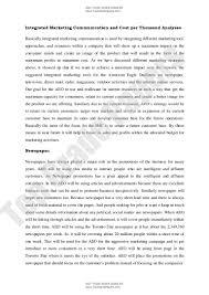 integrated marketing communication academic essay assignment integrated marketing communication academic essay assignment
